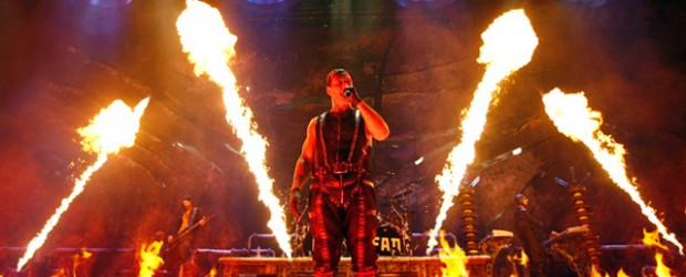 Fire, flames and foam ejaculation! Rammstein rocked! Rammstein burned!